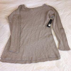 Nic Zoe Metallic Sweater New W/Tags